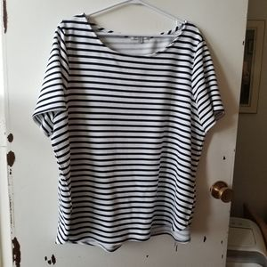 Green Envelope Black and White Stripped T-Shirt